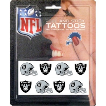 Oakland Raiders 8-PC Peel And Stick Tattoo Set