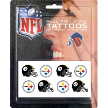 Pittsburgh Steelers 8-PC Peel And Stick Tattoo Set