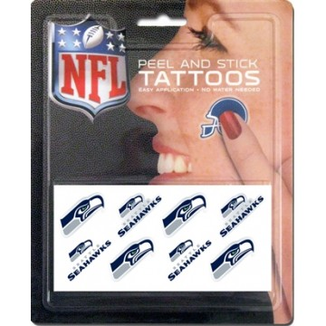 Seattle Seahawks 8-PC Peel And Stick Tattoo Set