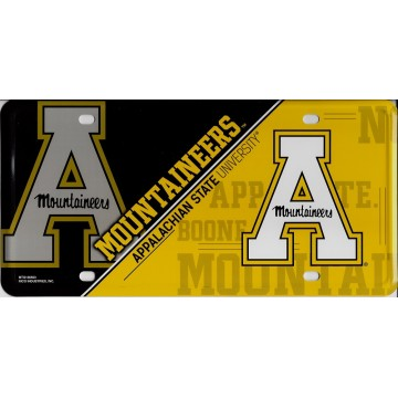 Appalachian Mountaineers Metal License Plate
