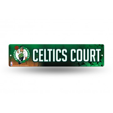 Boston Celtics Court Plastic Street Sign