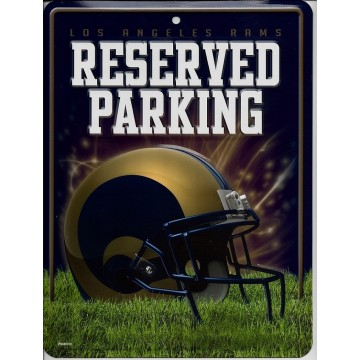 Los Angeles Rams Metal Parking Sign
