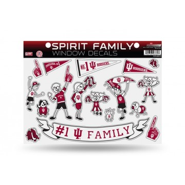 Indiana Hoosiers Family Decal Set