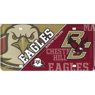 Boston College Eagles Metal License Plate