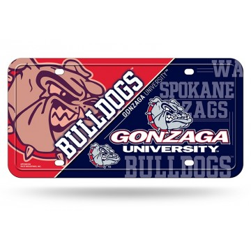 Gonzaga Bulldogs Metal License Plate