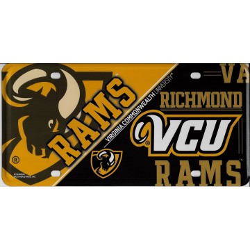 VCU Virginia Commonwealth Metal License Plate