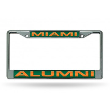 Miami Hurricanes Alumni Laser Chrome License Plate Frame