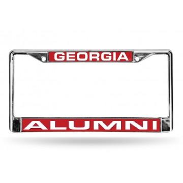 Georgia Alumni Laser Chrome License Plate Frame
