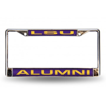 LSU Tigers Alumni Laser Chrome License Plate Frame