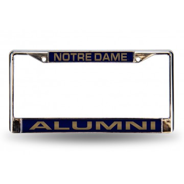 Notre Dame Alumni Laser Chrome License Plate Frame