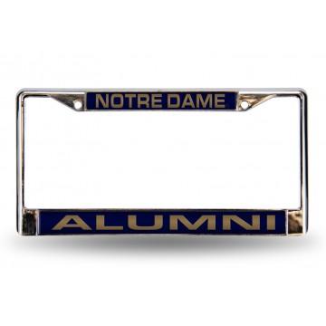 Notre Dame Alumni Laser Chrome License Plate Frame
