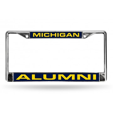 Michigan Wolverines Alumni Laser Chrome License Plate Frame