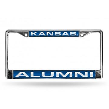 Kansas Jayhawks Alumni Laser Chrome License Plate Frame
