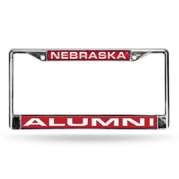 Nebraska Alumni Laser Chrome License Plate Frame