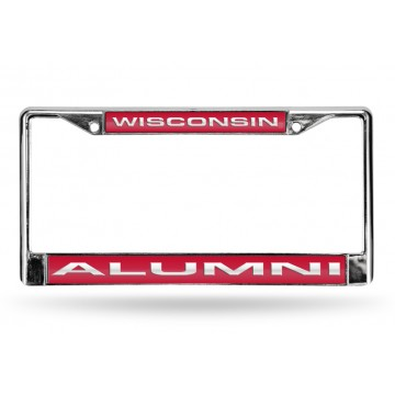 Wisconsin Alumni Laser Chrome License Plate Frame