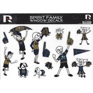 Notre Dame Family Spirit Decal Set