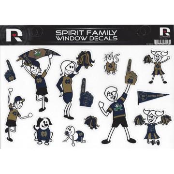 Notre Dame Family Spirit Decal Set