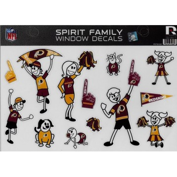 Washington Redskins Family Spirit Decal Set