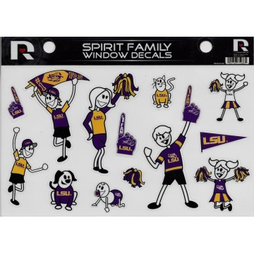 LSU Tigers Family Spirit Decal Set