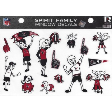 Houston Texans Family Spirit Decal Set