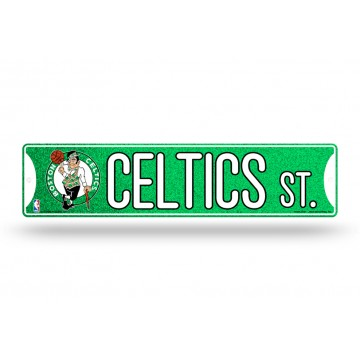 Boston Celtics Glitter Plastic Street Sign
