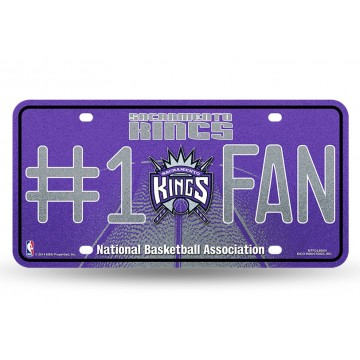 Sacramento Kings #1 Fan Glitter License Plate