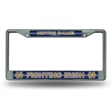 Notre Dame Glitter Chrome License Plate Frame
