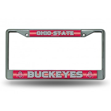 Ohio State Buckeyes Glitter Chrome License Plate Frame