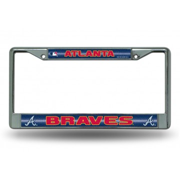 Atlanta Braves Glitter Chrome License Plate Frame