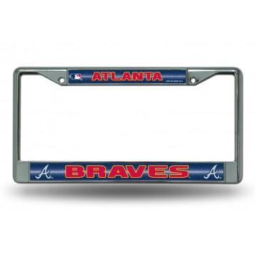 Atlanta Braves Glitter Chrome License Plate Frame