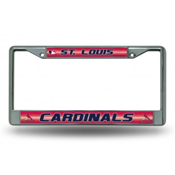 St. Louis Cardinals Glitter Chrome License Plate Frame