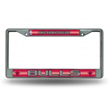 Chicago Bulls Glitter Chrome License Plate Frame