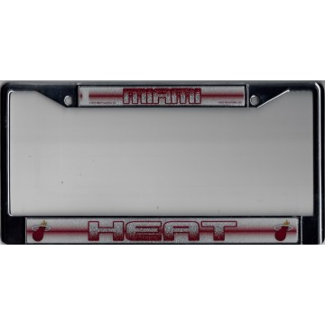 Miami Heat Glitter Chrome License Plate Frame