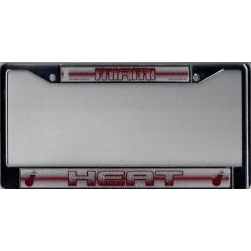 Miami Heat Glitter Chrome License Plate Frame