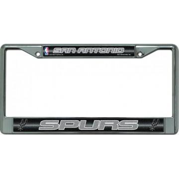 San Antonio Spurs Glitter Chrome License Plate Frame