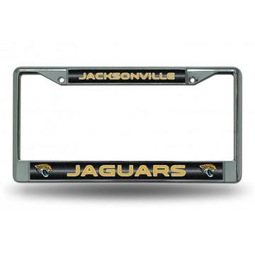 Jacksonville Jaguars Glitter Chrome License Plate Frame