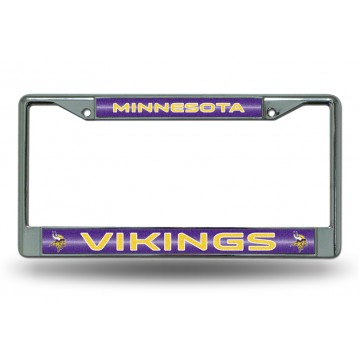 Minnesota Vikings Glitter Chrome License Plate Frame