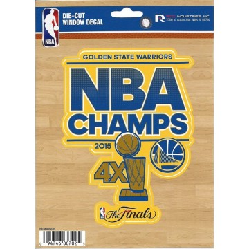 Golden State Warriors 2015 Champs Die Cut Vinyl Decal