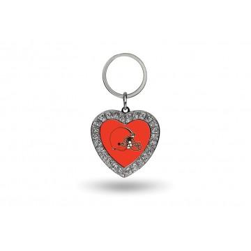 Cleveland Browns Bling Rhinestone Heart Keychain