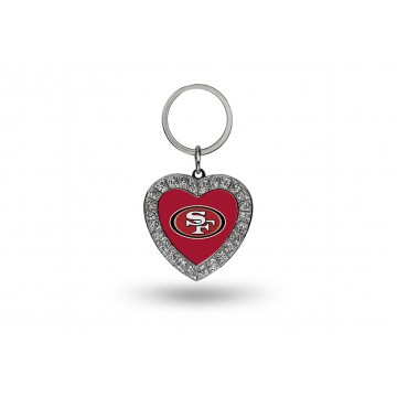 San Francisco 49ers Bling Rhinestone Heart Key Chain
