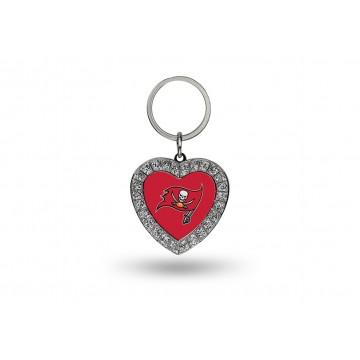 Tampa Bay Buccaneers Bling Rhinestone Heart Key Chain