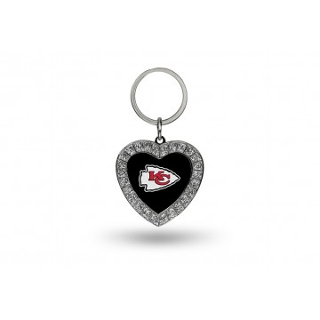 Kansas City Chiefs Bling Rhinestone Heart Key Chain