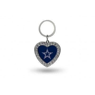 Dallas Cowboys Bling Rhinestone Heart Key Chain