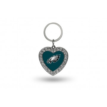 Philadelphia Eagles Bling Rhinestone Heart Key Chain