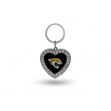 Jacksonville Jaguars Bling Rhinestone Heart Keychain