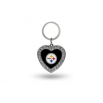 Pittsburgh Steelers Bling Rhinestone Heart Key Chain