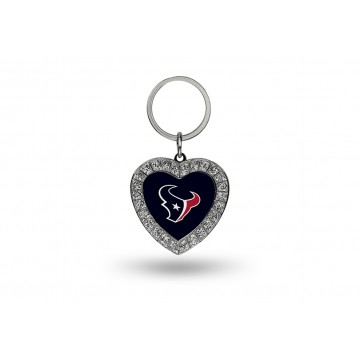 Houston Texans Bling Rhinestone Heart Keychain