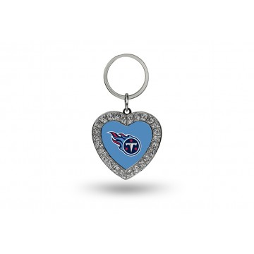 Tennessee Titans Bling Rhinestone Heart Keychain