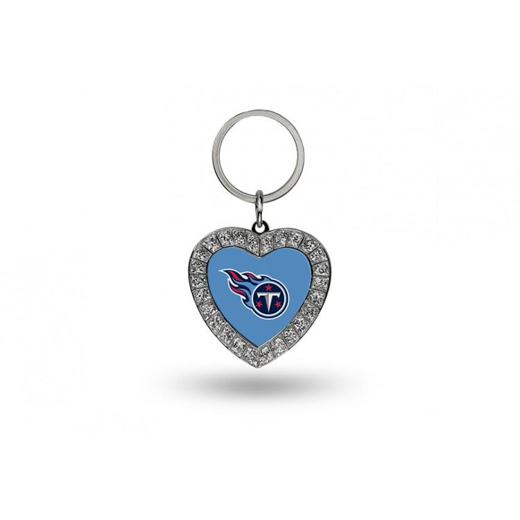 Tennessee Titans Bling Rhinestone Heart Keychain