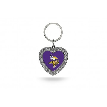 Minnesota Vikings Bling Rhinestone Heart Key Chain